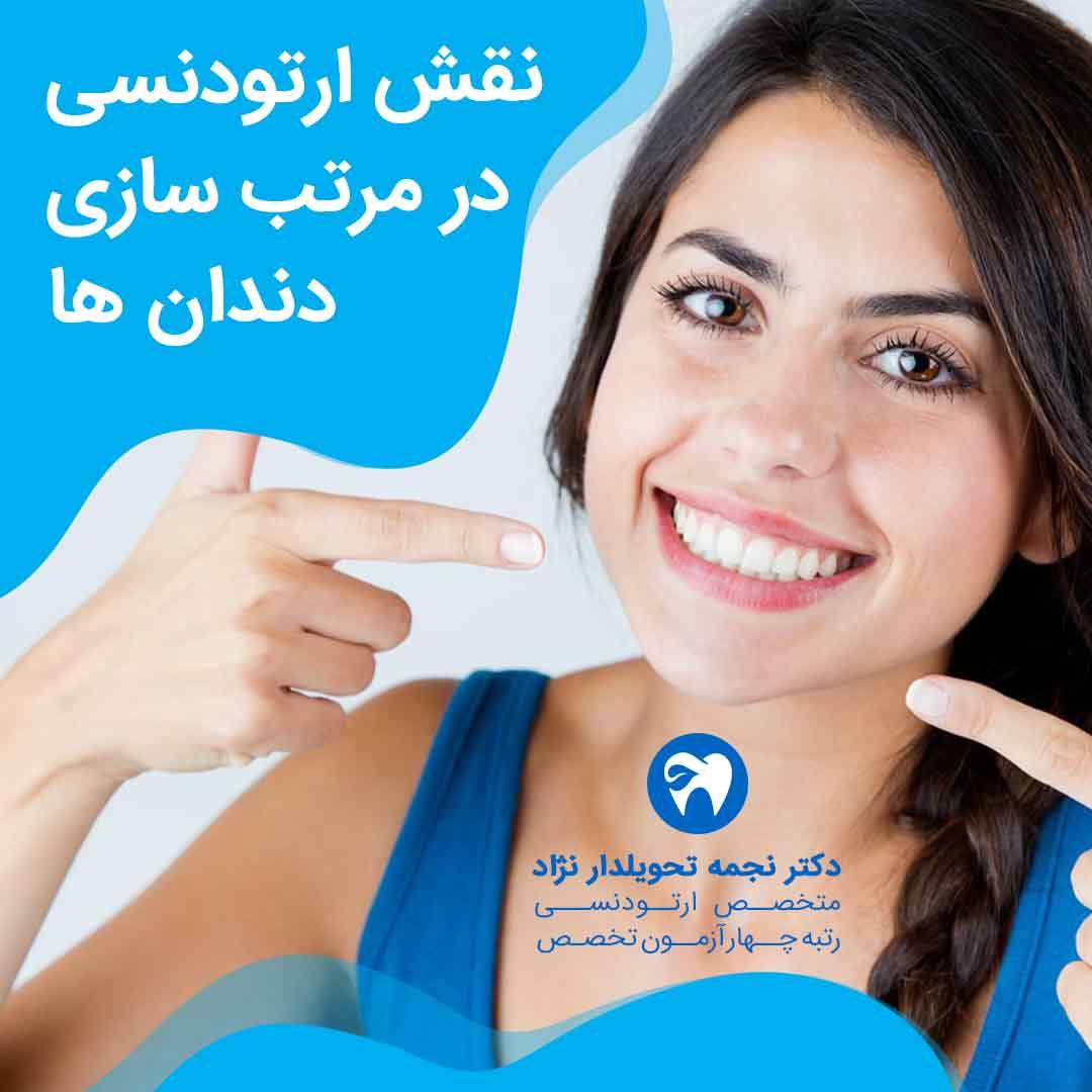 نقش ارتودنسی در مرتب سازی دندان ها